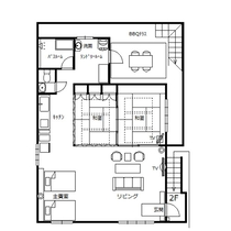 Casa N.Y(カーサエヌワイ)平面図 70㎡ 2LDK 定員8名