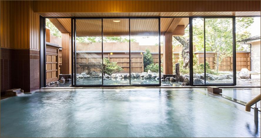 嵐山日帰り温泉大浴場と露天風呂で体を癒してみませんか♪