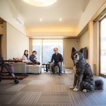 愛犬とお部屋で寛ぐ1