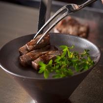 黒毛和牛ステーキ一例