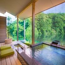 お部屋の露天風呂&足湯6