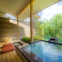 お部屋の露天風呂&足湯2