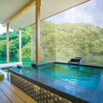 お部屋の露天風呂&足湯1