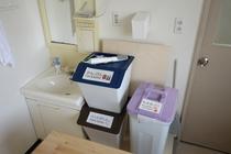 3階 洗面所とゴミ箱