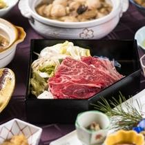 【夕食】山形名物が揃う「旬の味覚膳」。気取らないスタイルでお好きなものをお好きなだけ(一例)