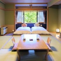 【倶楽部ルーム】老舗旅館の落ち着いた和の趣をそのままに、機能的なモダンデザインにリニューアル