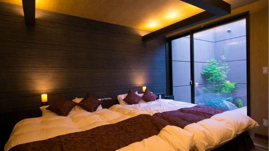 客室一例(露天風呂付き和洋室)