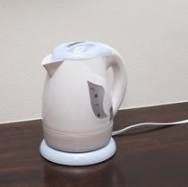 電気ケトル:全室に完備。お茶やお夜食時に。あるとうれしい設備揃ってます。