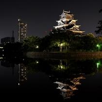 【広島城】当館よりお車で約30分。ライトアップされた夜の広島城もおすすめです。
