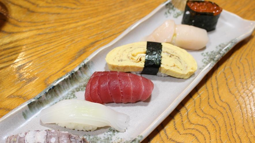 *[ご夕食一例/寿司]青森県近海の天然素材をふんだんに使ったお寿司を是非ご賞味ください