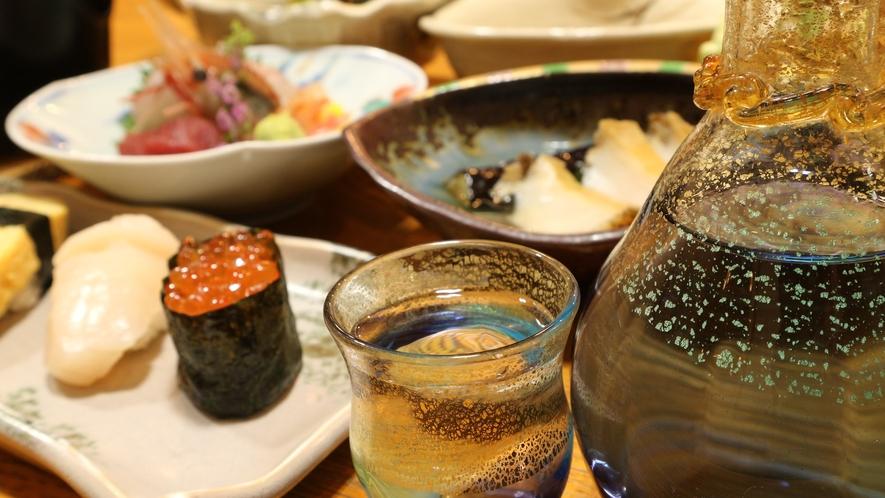 *[黒石の地酒一例]お料理に合う地元黒石の地酒をはじめご主人オススメの新潟のお酒も揃えております