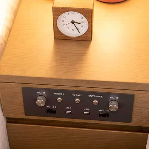 部屋設備 USB等