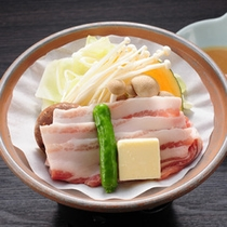 おすすめの「つつじコース」【上州麦豚の陶板焼き】