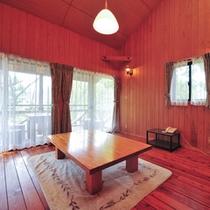 【コテージ】別荘代わりにご使用下さい。開放的な吹き抜けの間取り
