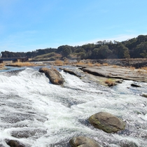 【周辺】曽木の滝/滝幅は210mで日本で一番長い!