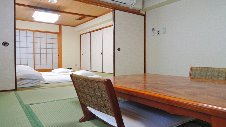 【部屋】(夢・虹の間)二間続きのお部屋で広々とお寛ぎいただけます