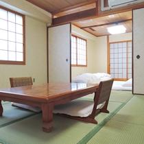 【部屋】和室(夢・虹の間)二間続きのお部屋で、広々とお寛ぎいただけます