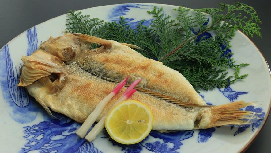 家康公が好んだ 甘鯛の一夜干し冬から春先が旬の季節限定メニューです。