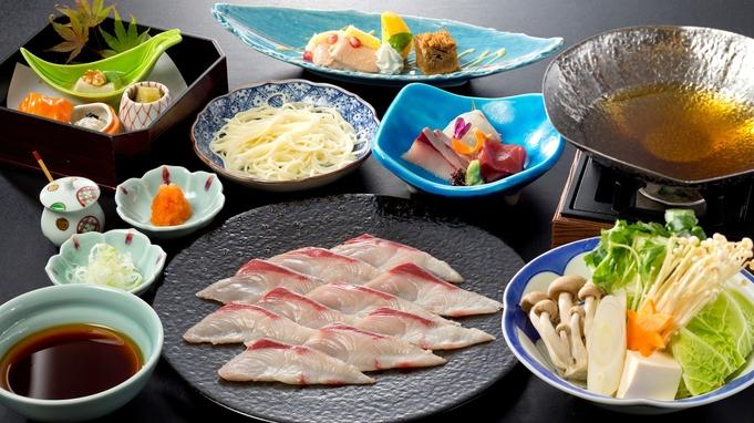 【ブリしゃぶ鍋】旅館で味わう絶品鍋料理。締めは半田そうめんでさっぱりと♪
