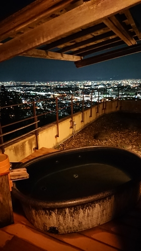 貸切露天風呂【風の湯】 夜