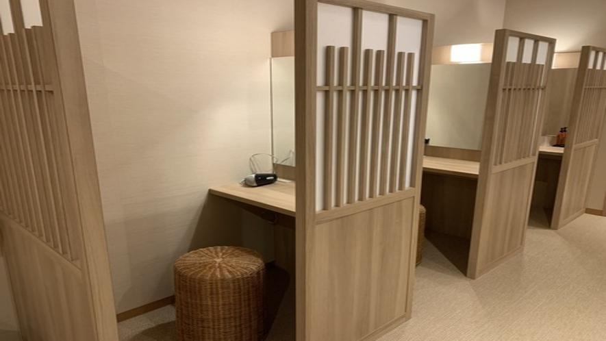 ◆女性大浴場 パウダーブース(3席)