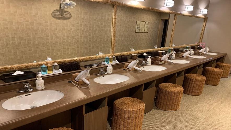 ◆男子大浴場 洗面所(6か所)
