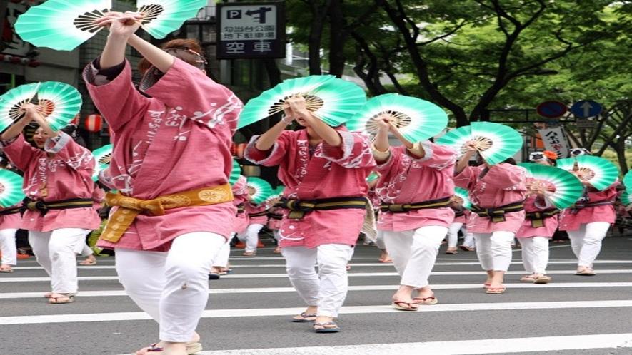 ◆≪青葉まつり≫すずめ踊りも開催され、見て・食べて楽しめるお祭りです♪