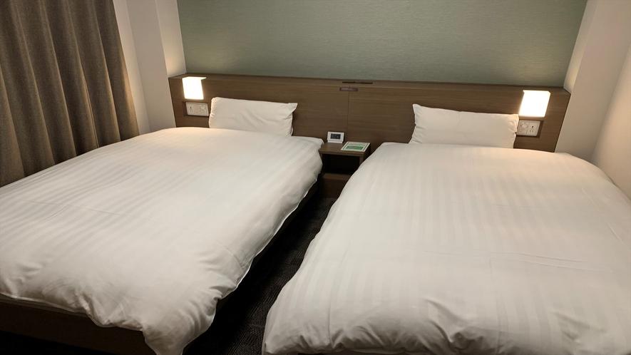 ◆ツインルーム 17.9平米 ベッドサイズ横100cm×縦195cm 2台