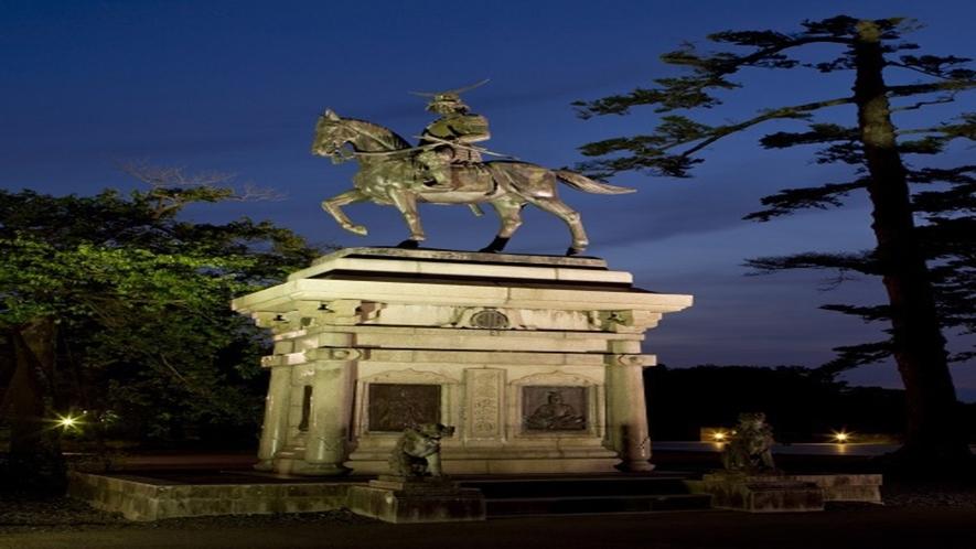 ◆≪政宗公騎馬像≫仙台のシンボルでもある伊達政宗公。大河ドラマでも有名に♪