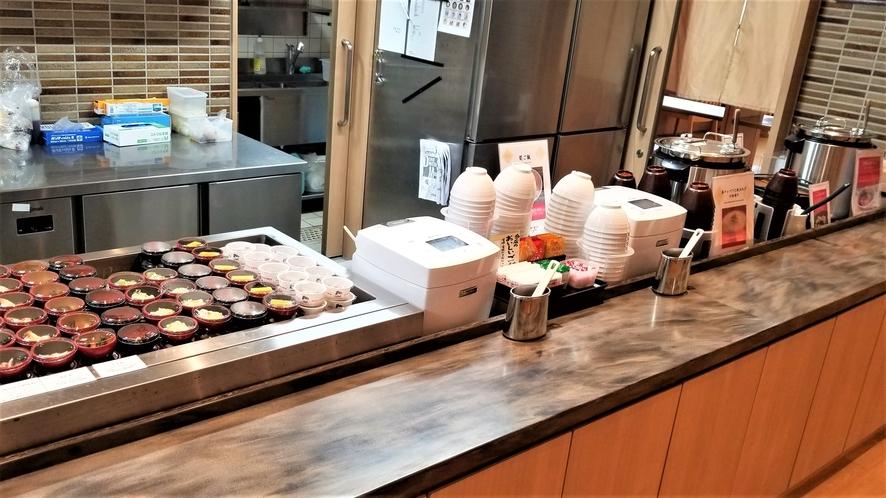 ◆朝食 バイキング提供ライン(イメージ)