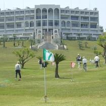 【グラウンドゴルフ場】ゴルフ場ならではのコース整備と変化に富んだコースが人気