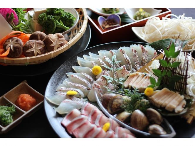 伊勢真鯛と季節の海鮮しゃぶしゃぶ