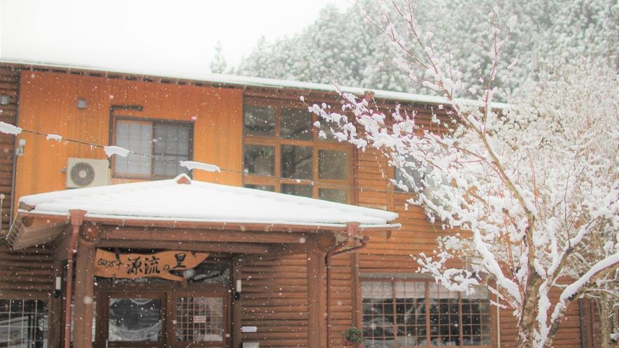 [施設・外観] 冬には雪がつもることもあります