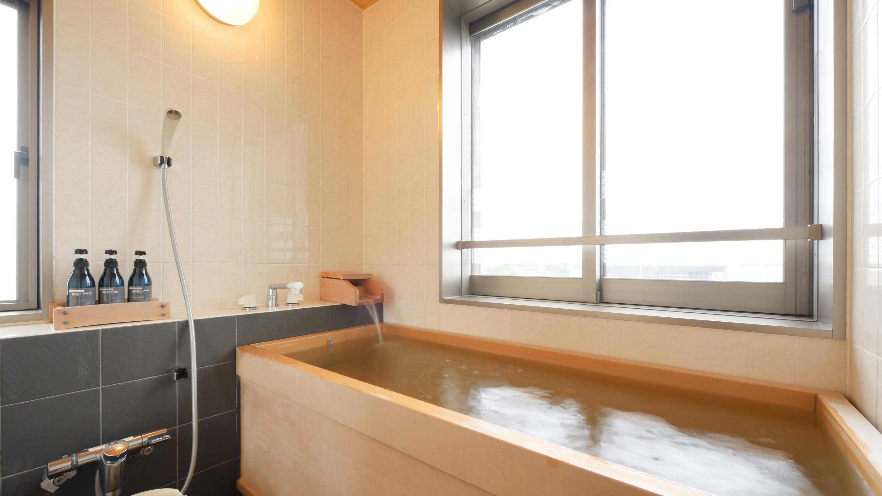 【川の見える檜風呂付き離れ】檜風呂