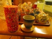 お茶・珈琲・紅茶無料でご提供致しております。