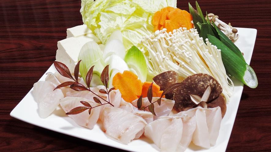 *【夕食一例】黒鯛のお鍋。魚介の出汁は絶品!