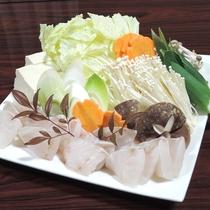 【夕食一例】黒鯛のお鍋。魚介の出汁は絶品!