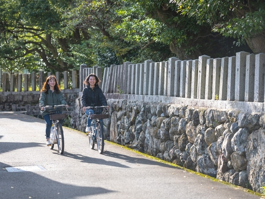 【朝食付】「海のある奈良」小浜で街並みや寺社仏閣を巡る、電動サイクリング付きプラン