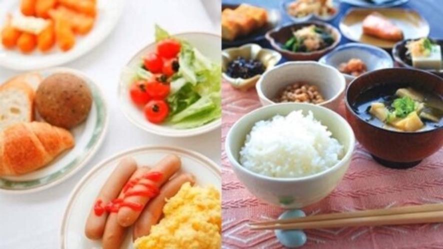 バイキング朝食は6:45~9:00 朝食レストラン「和み(なごみ)」にてお召し上がりいただけます。
