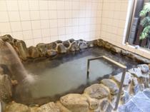 温泉 岩風呂風の大浴場
