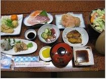 お手軽海の幸プラン 夕食例