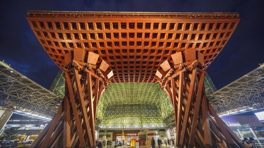 ◆堂々とした金沢の玄関口「JR金沢駅」の鼓門◆
