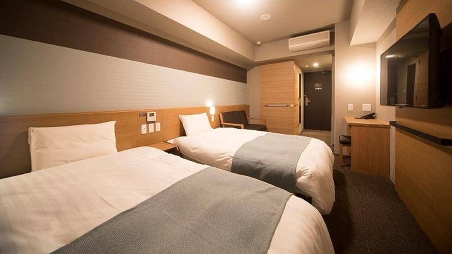 【禁煙】ツイン20平米サータ社製ベッド(1200×1950 2台)約20平米