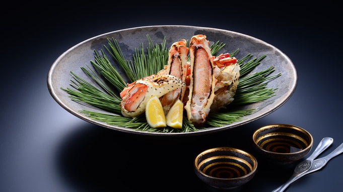 【焼きタラバ蟹!】露天風呂付客室♪