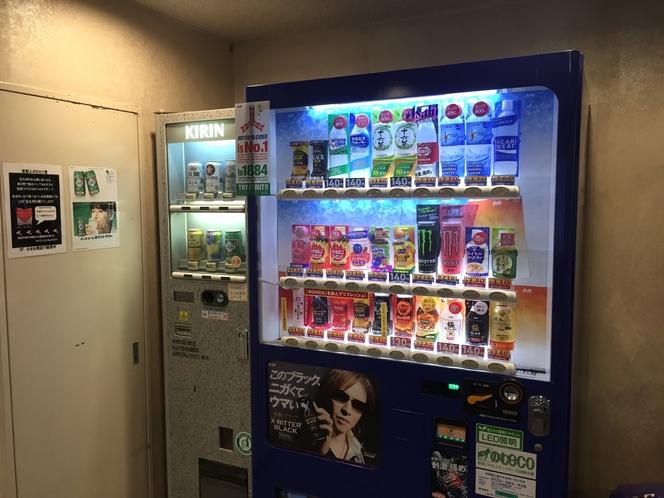自動販売機。飲料・アルコール。2階