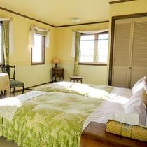 【205 和洋室ツイン】グリーンを基調とした爽やかな和洋室のお部屋です。(禁煙)