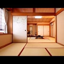 6畳と8畳が合わさった広々和室