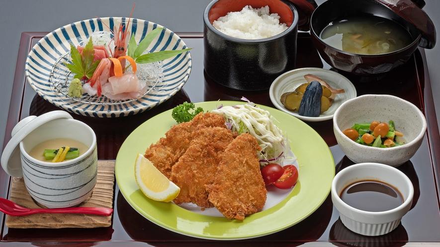 【ディナーメニュー ひれかつお造り膳】