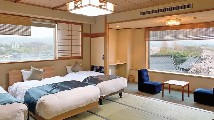 【和風ツインベッドルーム】120cmベッド1台・100cmベッド1台