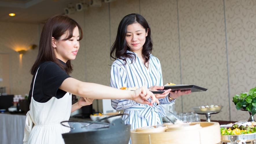 朝食バイキング☆お腹いっぱい召し上がれ